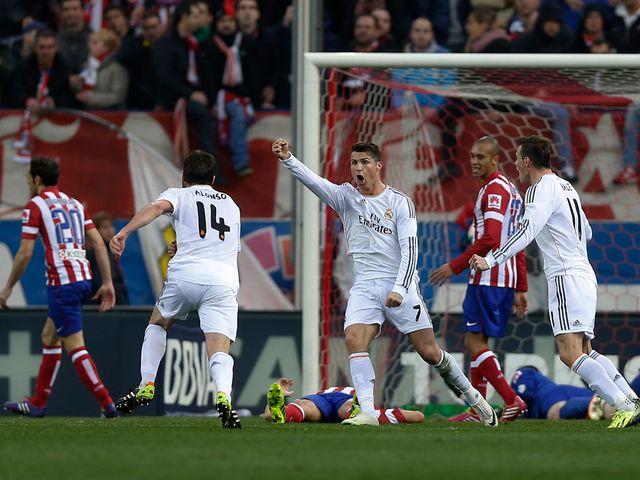 Cristiano Ronaldo celebrates his equaliser