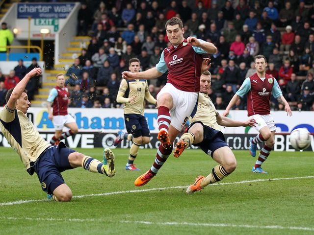 Sam Vokes is involved in a Jason Pearce own goal