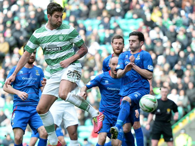 Charlie Mulgrew scores Celtic's second goal