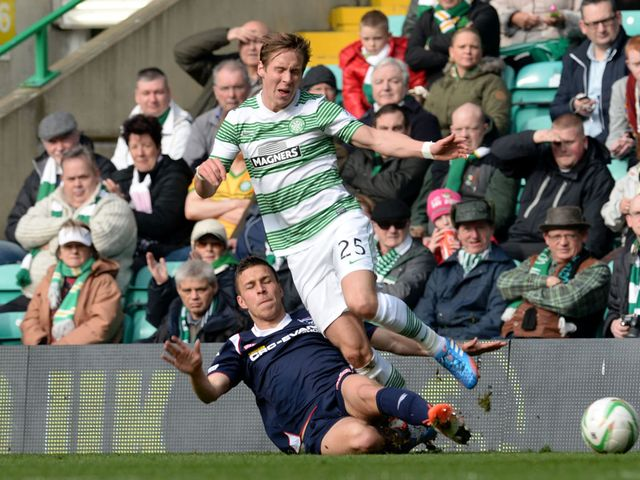 Filip Kiss tackles Stefan Johansen
