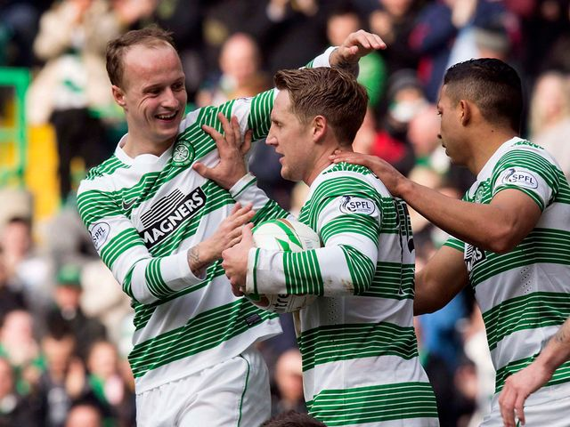 Kris Commons celebrates his Celtic goal