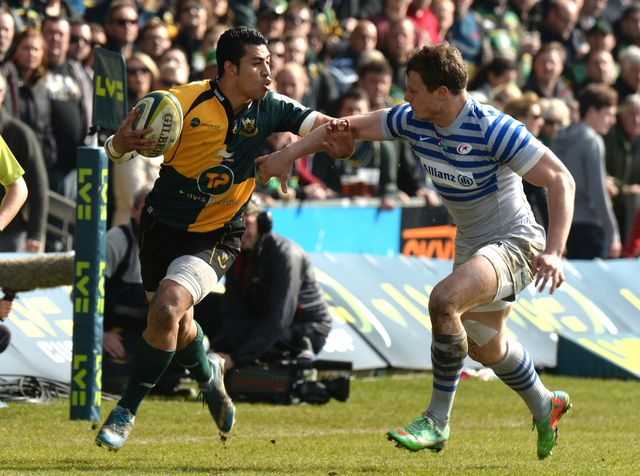 George Pisi scored a hat-trick of tries for Northampton