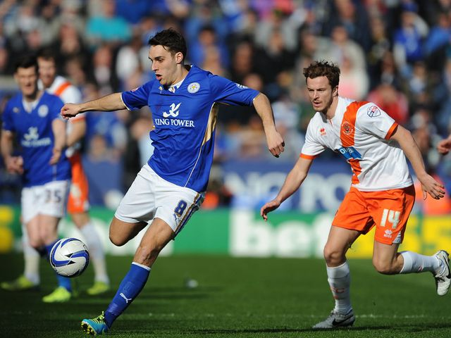 Matty James tries to get clear of Andy Halliday