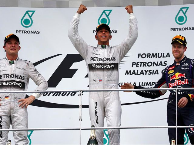 Lewis Hamilton: Claimed victory in the Malaysian Grand Prix