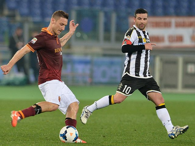 Roma's forward Francesco Totti in action