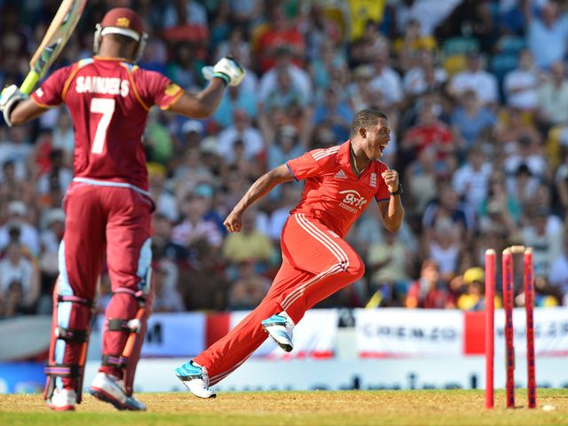 Chris Jordan runs away to celebrate