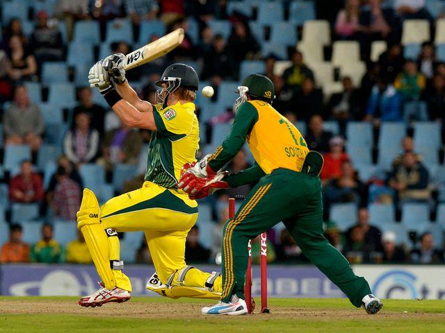Australia's Shane Watson scored 35 runs