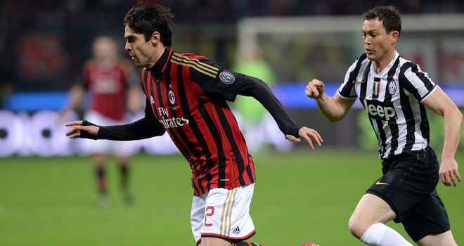 Kaka in action for AC Milan