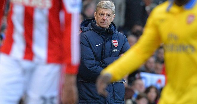 Arsene Wenger: Arsenal have failed to win in their last four visits to the Britannia Stadium