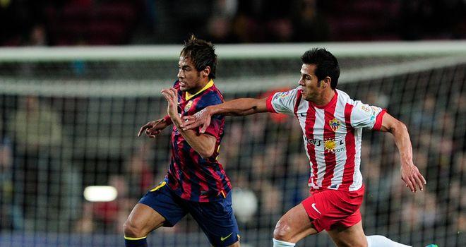 Neymar on the charge against Almeria