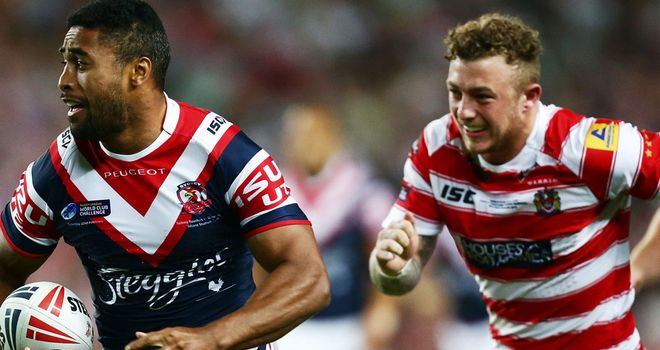 Charnley in action in Wigan's unsuccessful World Club Challenge against Sydney Roosters