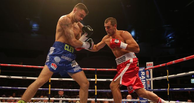 Nathan Cleverly against Sergey Kovalev last August