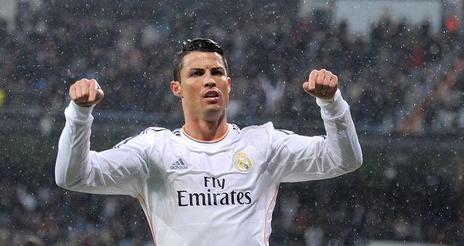 Cristiano Ronaldo celebrates for Real Madrid