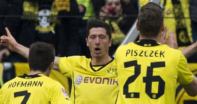 Robert Lewandowski was on target again for Dortmund