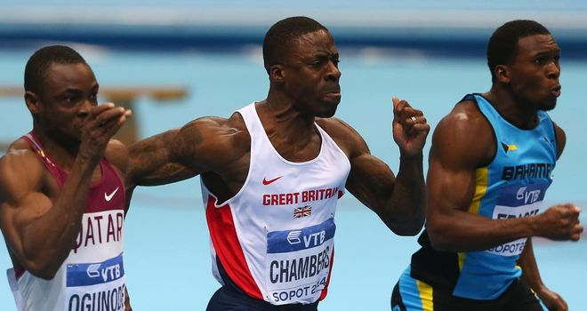 Dwain Chambers (C): Gunning for sprint glory in the Bahamas