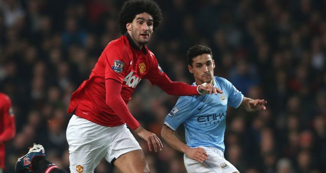 Jesus Navas: The pace of the Spaniard proved too much for Manchester United's struggling players