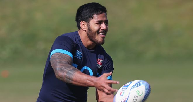 Manu Tuilagi will be on the England bench in Rome on Saturday