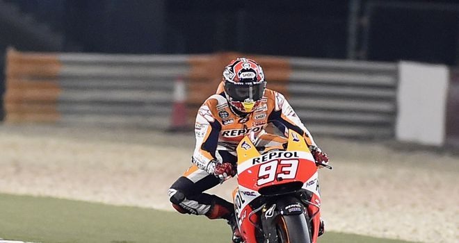 Marc Marquez: Proved too strong for Valentino Rossi in wheel-to-wheel duel