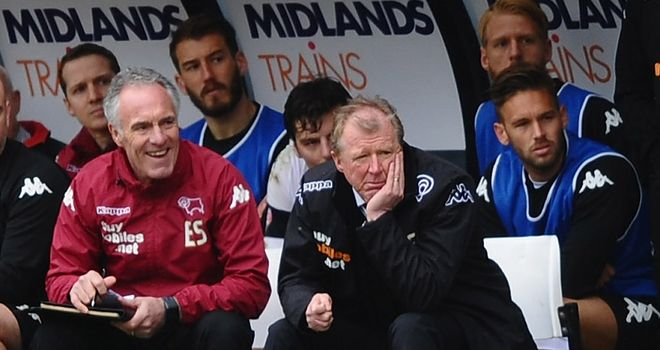 Derby County: Steve McClaren and his coaching team sign new deals with the club.
