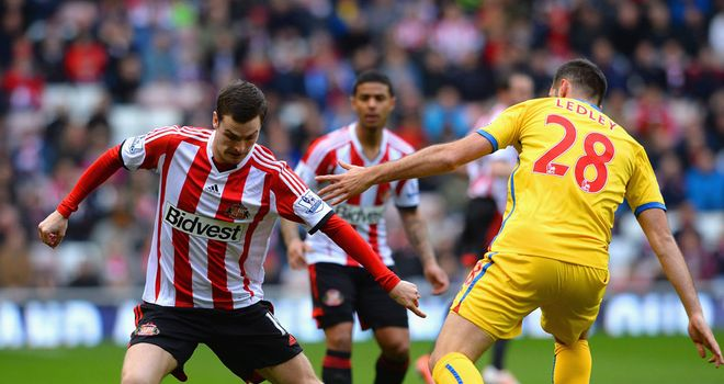 Adam Johnson: Could not find a way past Palace