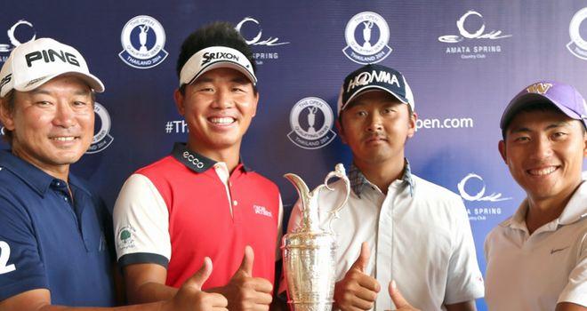 The four qualifiers: Tsukada Yoshinobu, Wu Ashun, Hiroshi Iwata and Cheng-Tsung Pan