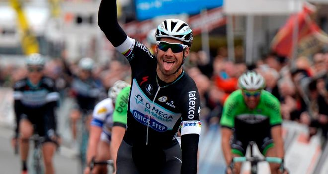 Tom Boonen sprinted to victory ahead of Moreno Hofland