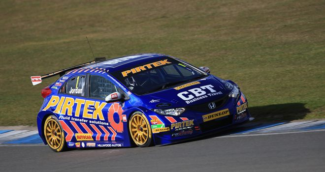 Andrew Jordan: Made a strong start to the defence of his title