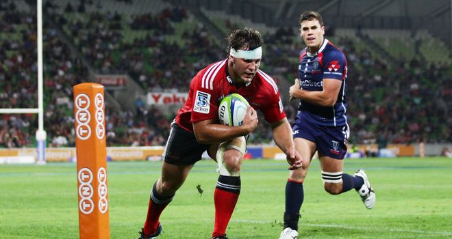 Ben Funnell: Scored the Crusaders' only try of the game