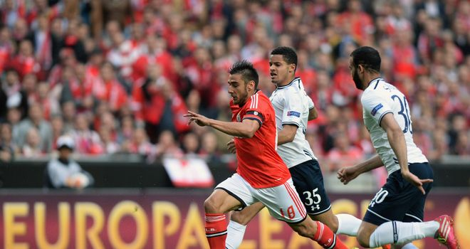 Eduardo Salvio: Scored the only goal as Benfica beat AZ