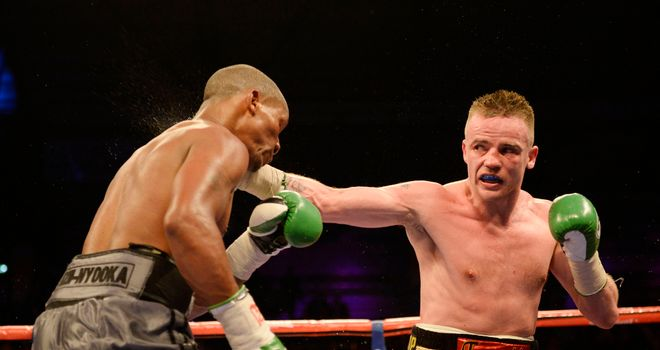 Frankie Gavin (R): Was untroubled by Sacky Shikukutu bar a second-round knockdown