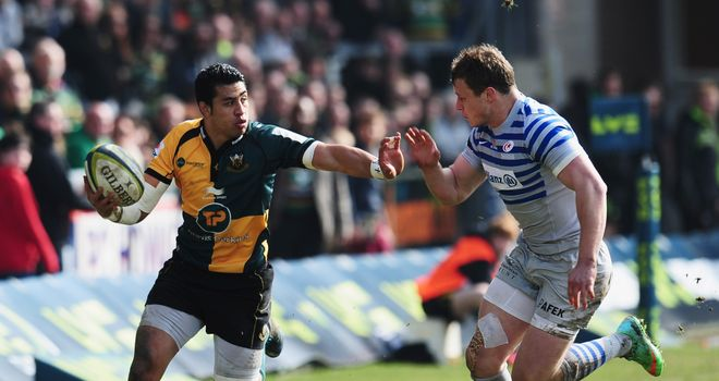George Pisi: Scored three tries for Northampton in second half