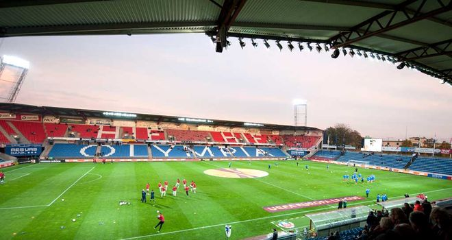 Djurgarden's match at Helsingborg was abandoned after a fan died.