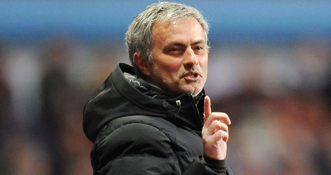 Jose Mourinho: Sent to the stands against Aston Villa
