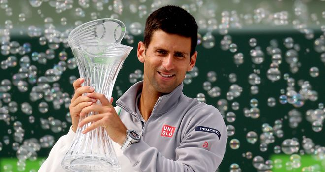 Djokovic: Celebrates his Miami Masters win