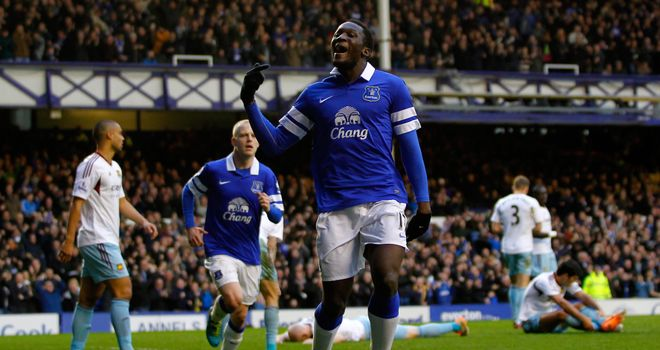 Romelu Lukaku: Celebrates the winner against West Ham