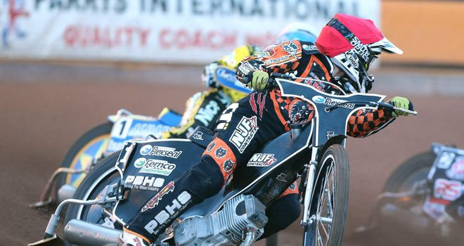 Tai Woffinden: Perfect start for Wolverhampton (PIC CREDIT JEFF DAVIES)