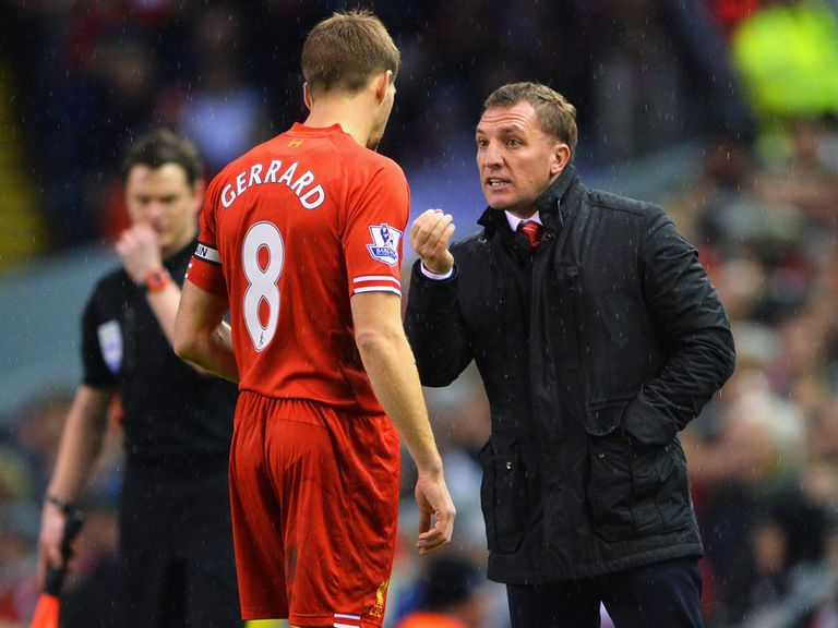 Rodgers: Hailed Gerrard as best holding midfielder around