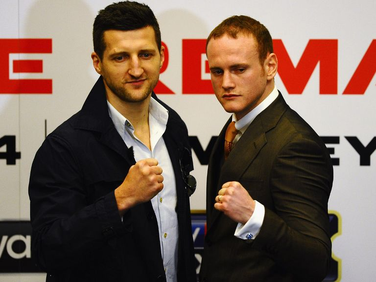 Groves (r) and Froch meet again later this month