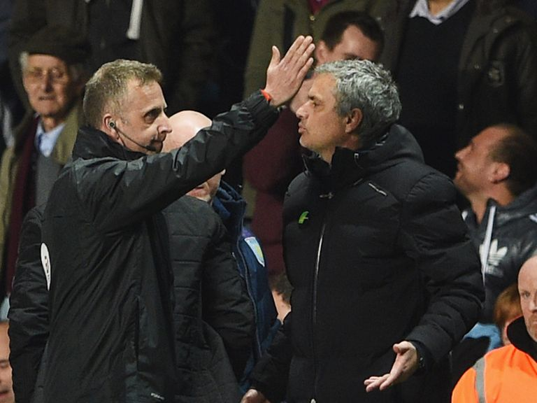 Jose Mourinho: Was sent to the stands at Villa Park
