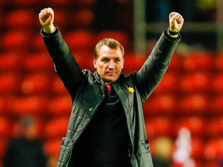 Brendan Rodgers: Hailed by skipper Steven Gerrard