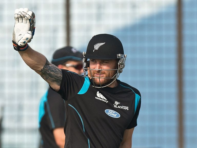 Brendon McCullum prepares ahead of the England game