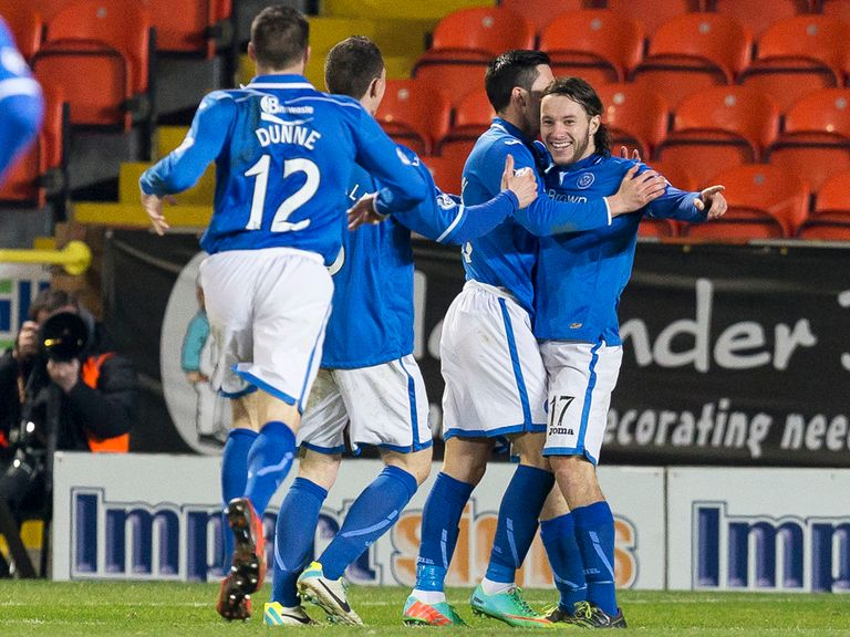 St Johnstone celebrate against Dundee United
