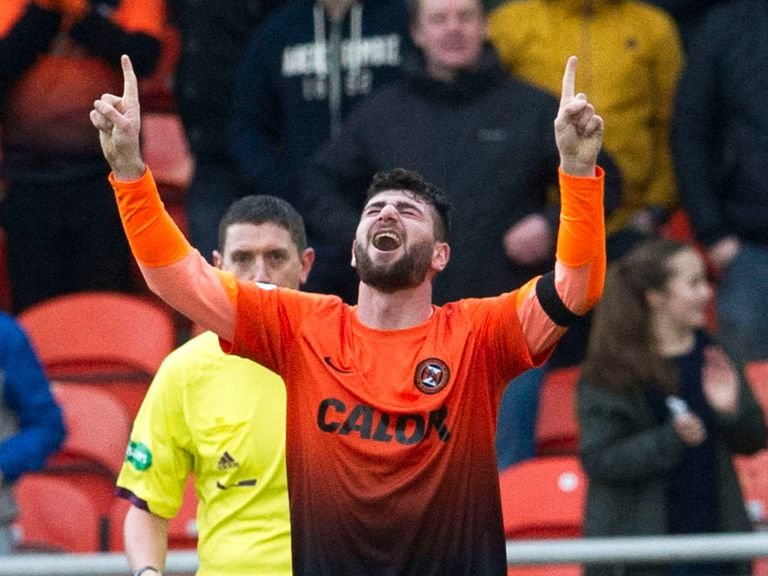 Nadir Ciftci netted the winning goal for Dundee United