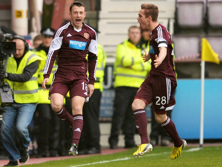 Dale Carrick (l): Can help Hearts to victory in the Edinburgh derby