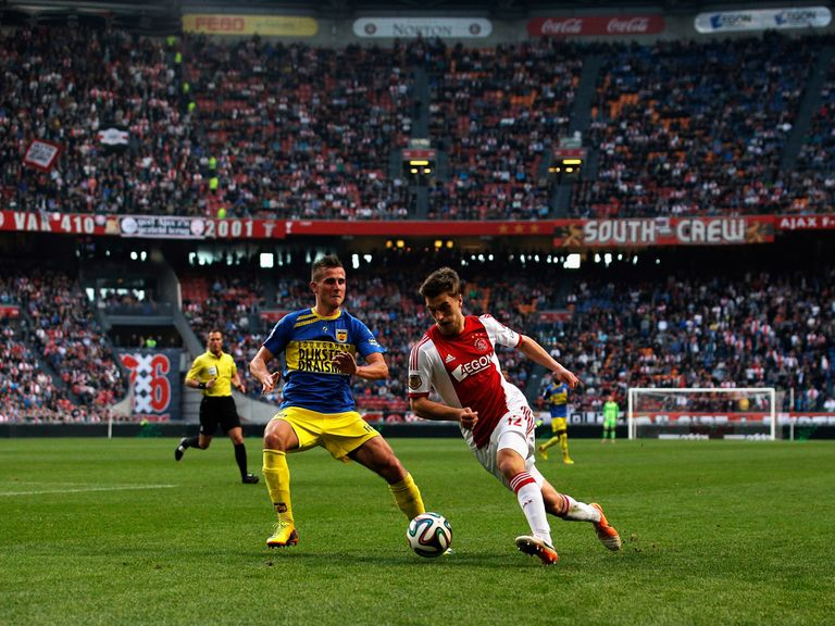 Joel Veltman of Ajax and Paco Van Moorsel of Cambuur