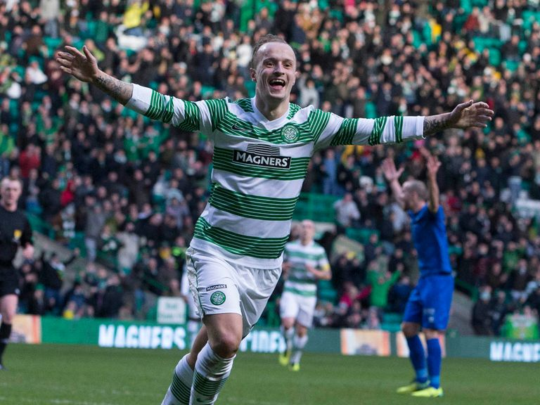 Leigh Griffiths scores the first of his three goals against Inverness