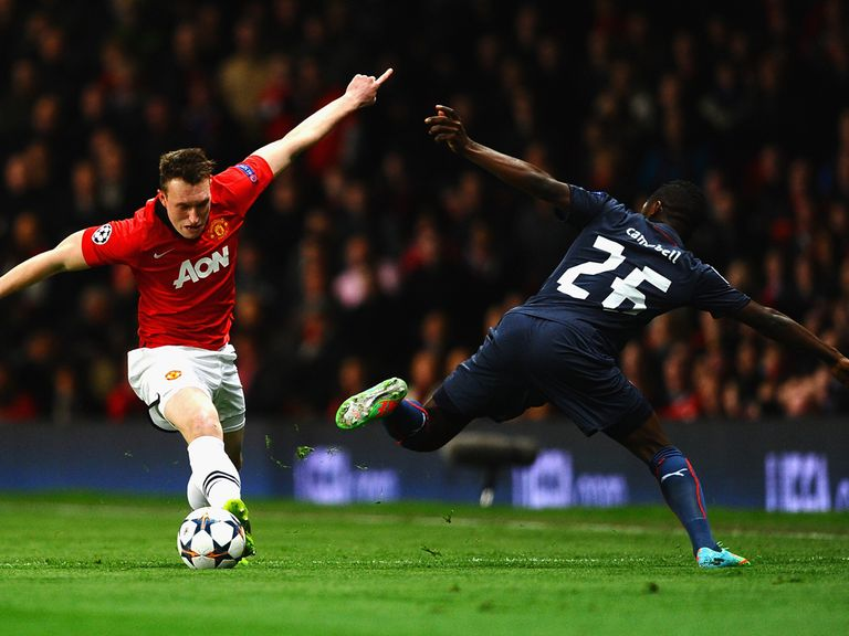 Phil Jones in action in the Champions League