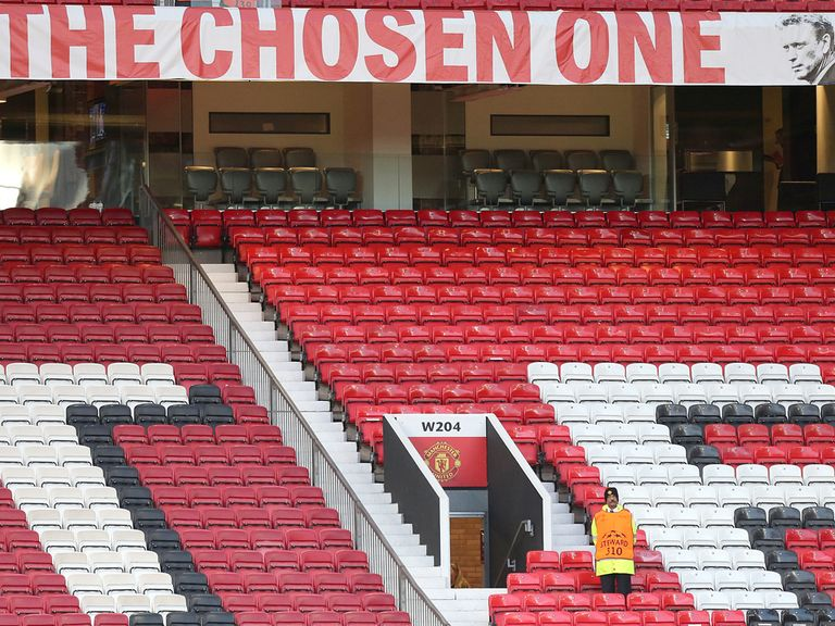 The David Moyes banner will remain in place at Old Trafford