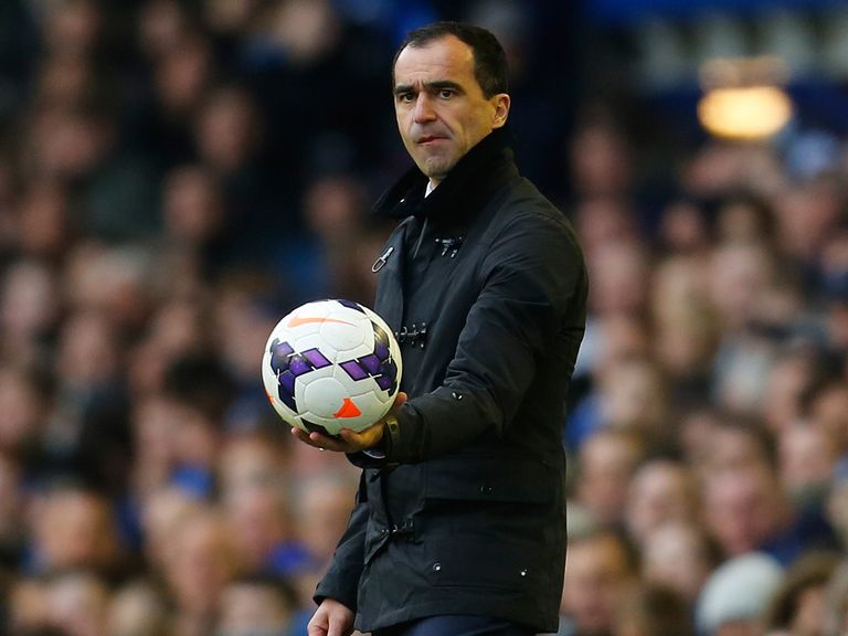 Roberto Martinez: Takes his in-form Everton to Newcastle on Tuesday