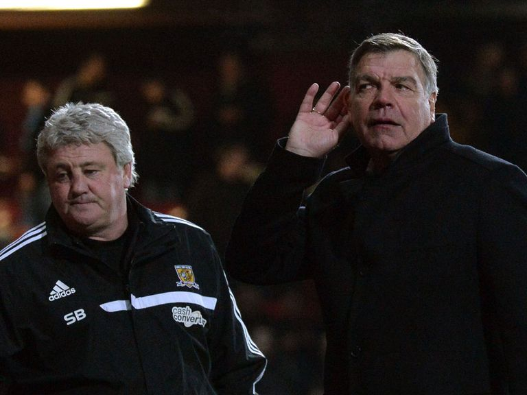Allardyce was unhappy with the crowd's reaction
